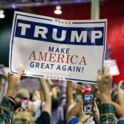 Presidential Candidate Donald Trump Campaign Banner