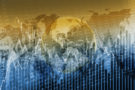 Global Stock Exchange Concept Graphic Background. Global Financials